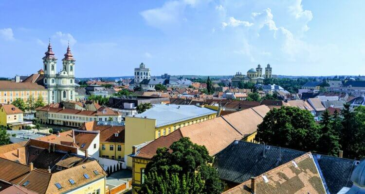 "Old town Eger - a view from the castle. Surely this answers the question ""is Eger worth a visit?"""