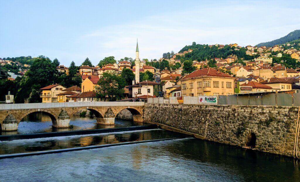 Sarajevo along the River Miljacka
