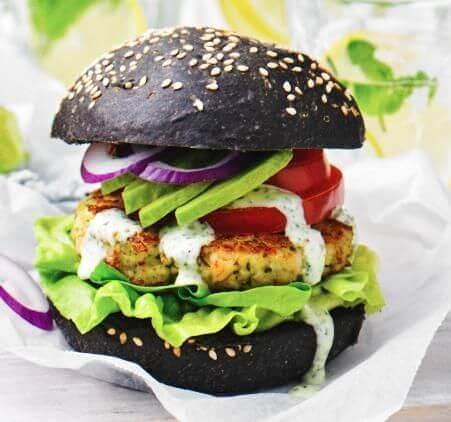 Eggy Veggie Burger