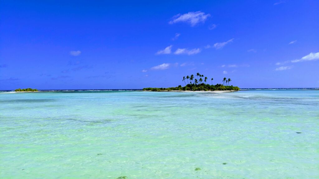 Lagoon outside of Dreamers - Making Kiribati a Beach Lovers Paradise