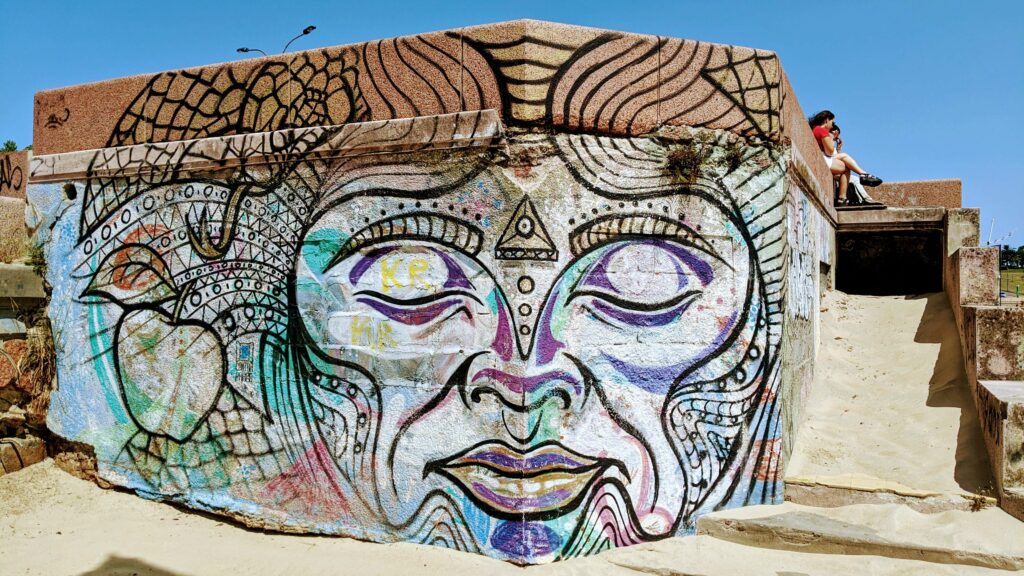 Street Art on the Beach in Montevideo