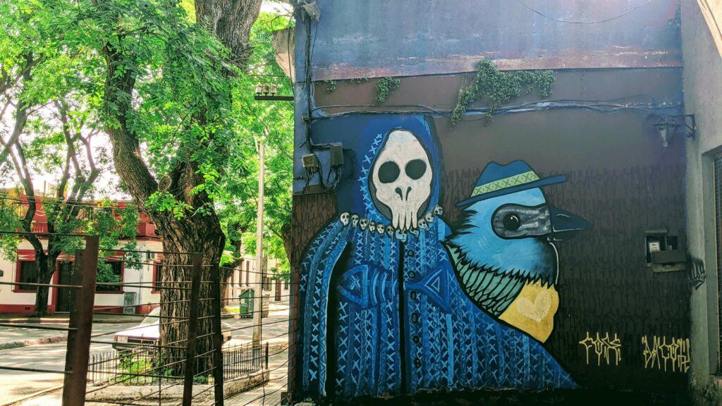 Montevideo Street Art Pocitas Skeleton