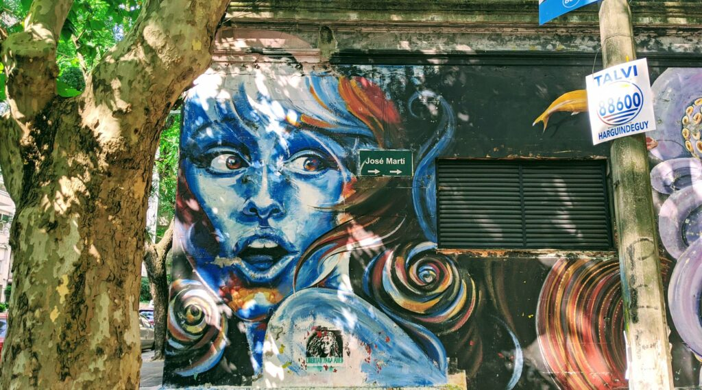 Montevideo street art Pocitos
