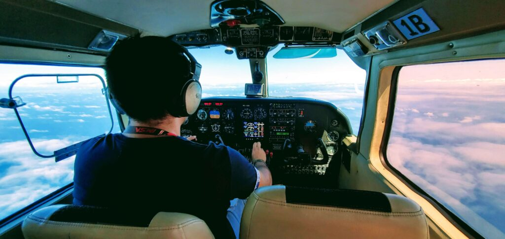 8 seater plane taking us from Isabela to San Critstobal