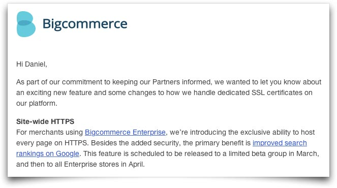 BigCommerce - Site-wide HTTPS image