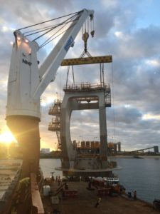 First Stacker-Reclaimer Module arriving in Hay Point Coal Terminal