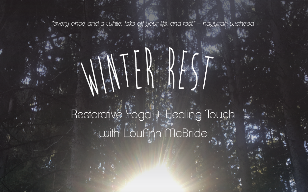 Still Space Available!  Restorative and Healing Hands