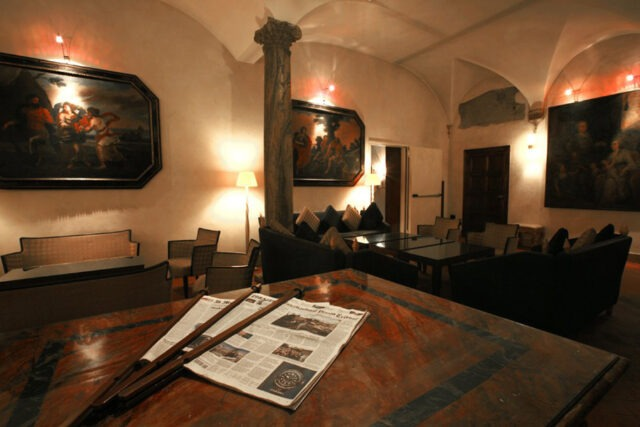 The reading room (photo courtesy of Hotel Columbus).