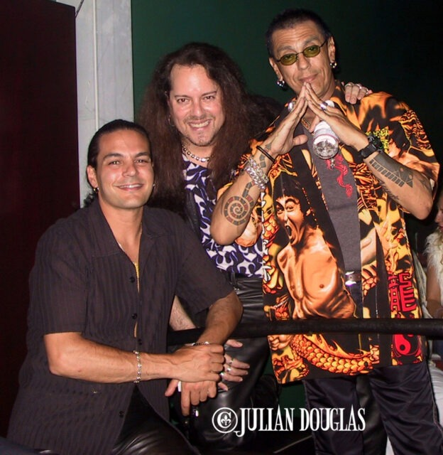 Fred Coury of Cinderella & I hanging out with Randy Castillo of Ozzy Osbourne, at the Cat Club. June 2010.