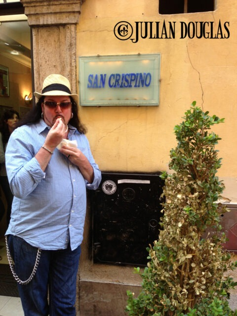 Here I am enjoying the incredible gelato. By my pose you can see I've had too much already ;)