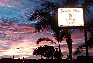 The beach at sunset, not far away from Beach Mex (photo courtesy of Beach Mex).