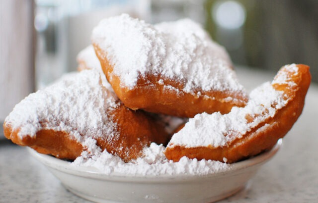 Close-up of an order of Beignets from Cafe du Monde (photo courtesy of HoneysuckleLife.com).