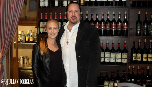 My wife, Nicole & I heading in for dinner at Il Chianti, June 2013.