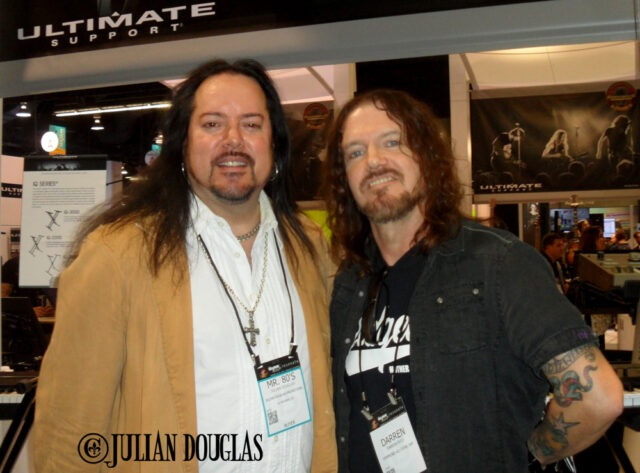 A great way to start the convention, hanging out with great friend Dizzy Reed of Guns 'N Roses, January 22nd, 2015.