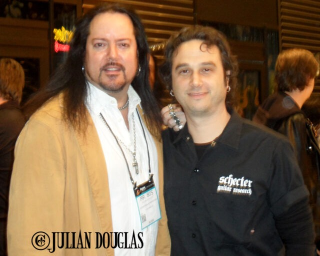 Schecter Guitars, Executive VP, Marc LaCorte and I on Day #1 of NAMM, January 22nd, 2015.