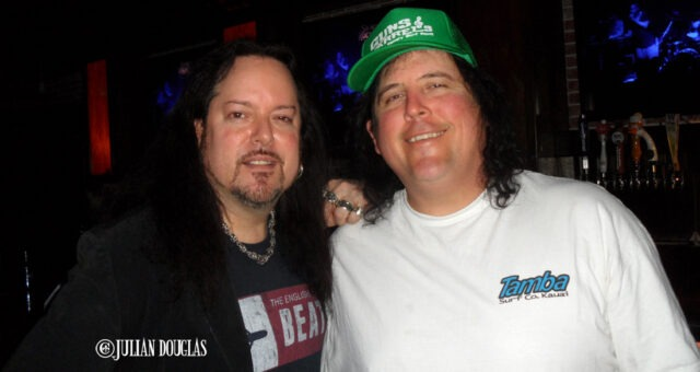 "Drinks with James ""Bobo"" Fay of Finding Bigfoot, while enjoying The English Beat, March 2014."