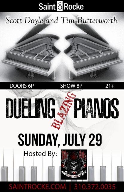 DUELING BLAZING PIANOS return for Summer Sunday Funday! @ SAINT ROCKE | Hermosa Beach | California | United States