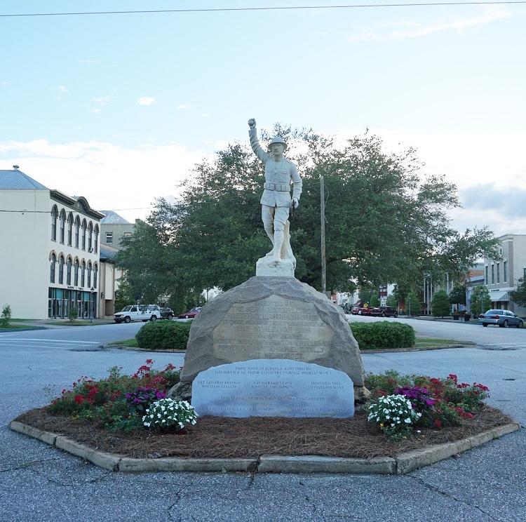 WWI Monument in Eufaula Alabama