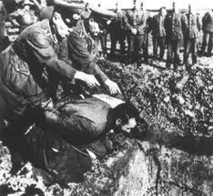 The Massacre is the term used to refer to the extermination of the entire male population and the razing and total destruction of the Greek town, Kalavryta,