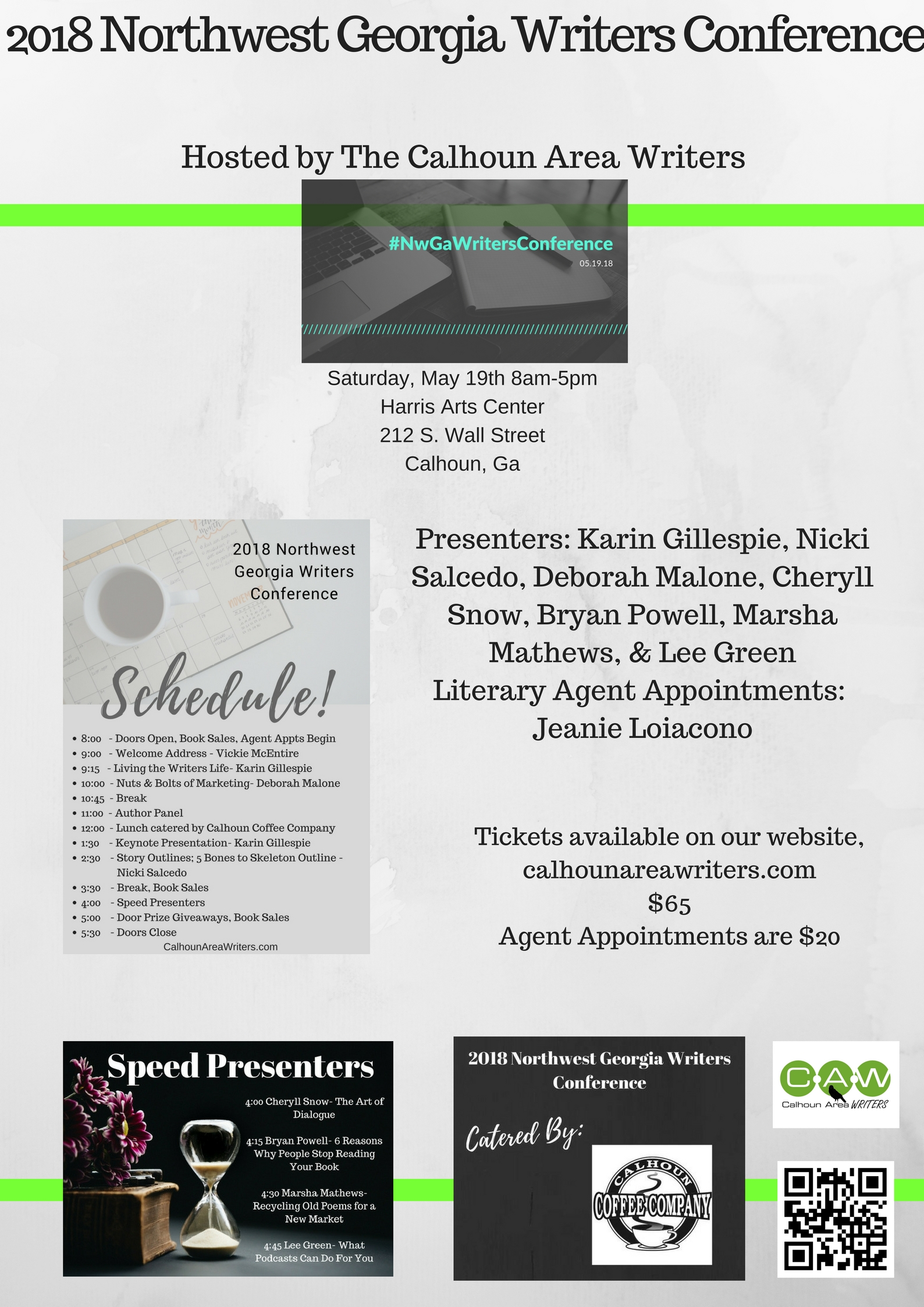 2018 Northwest Georgia Writers Conference – Hosted by The Calhoun
