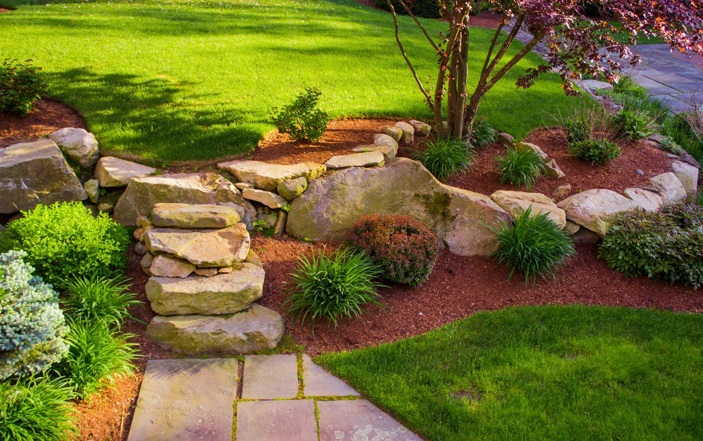Stone Stairway and Garden
