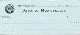 Old check from Bank of Montpelier