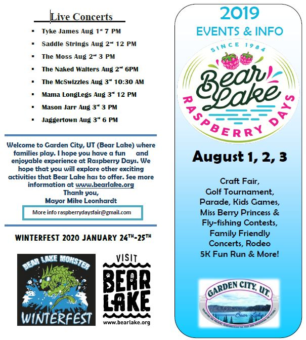 Bear Lake Raspberry Days Flyer