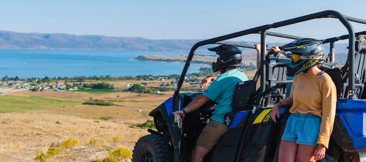 ATV Bear Lake Trails with view of the lake