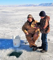 Ice Fishing on Bear Lake in Idaho and Utah