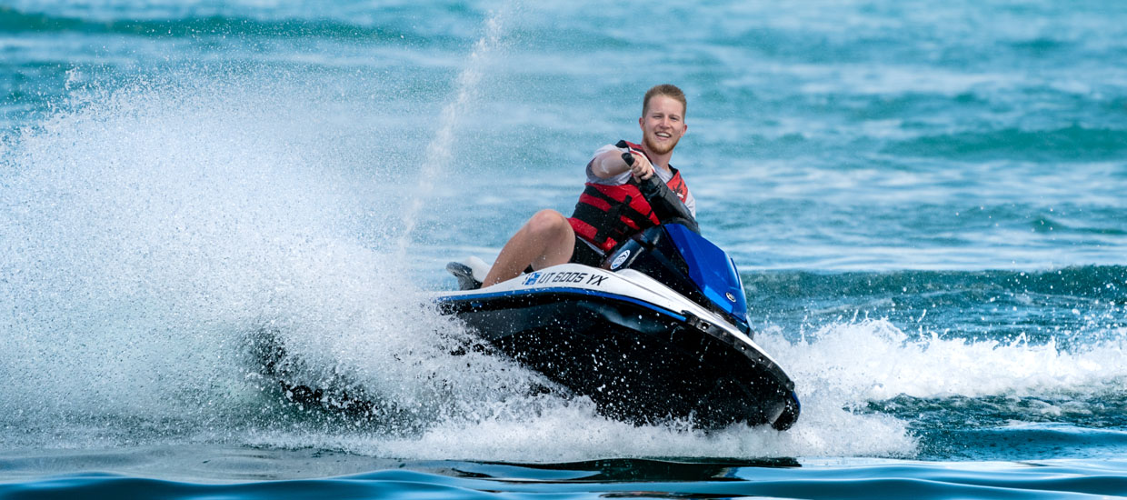 Jet Skier on Bear Lake