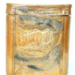 17A Barbara Harring Textured Vessel with Lid