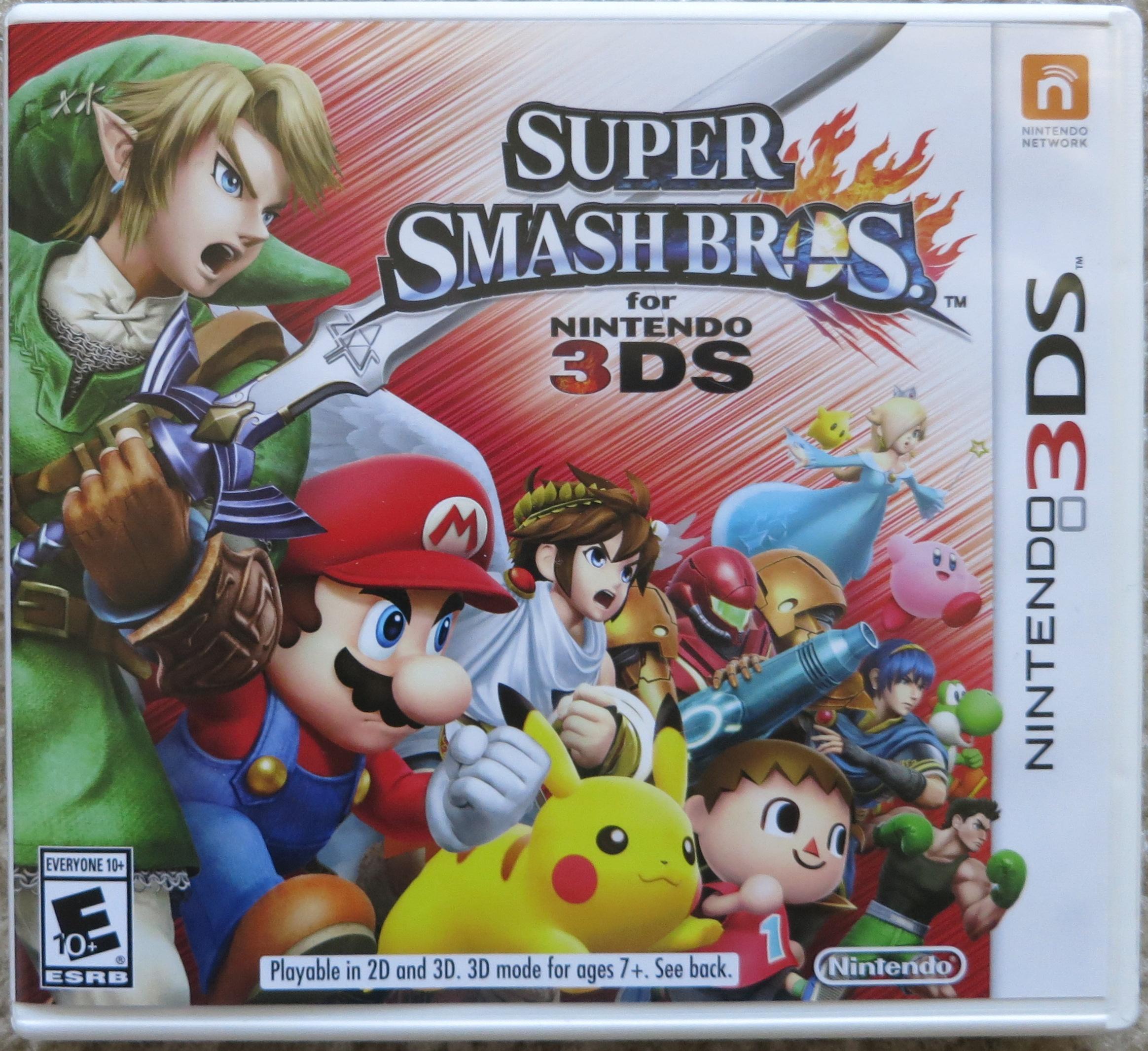 Super Smash Bros 3DS Cover