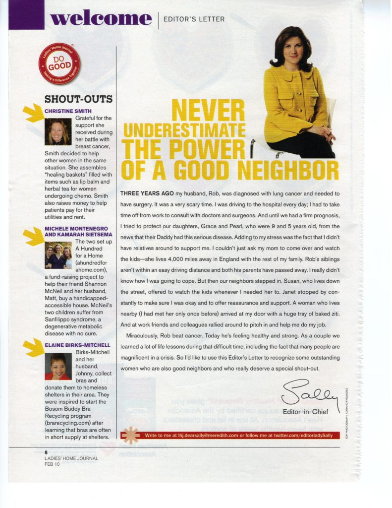 Ladies Home Journal Article