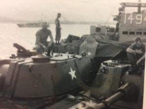 Transporting M108s on the Dong Ha River.