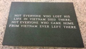 Plaque commemorating those who served in the Vietnam War.