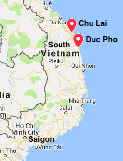Map showing locations where Rick Adler served in Vietnam.