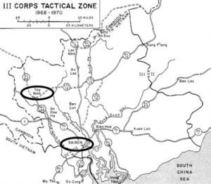 III Corps Tactical Zone around Saigon, South Vietnam (Source: U.S. Army)