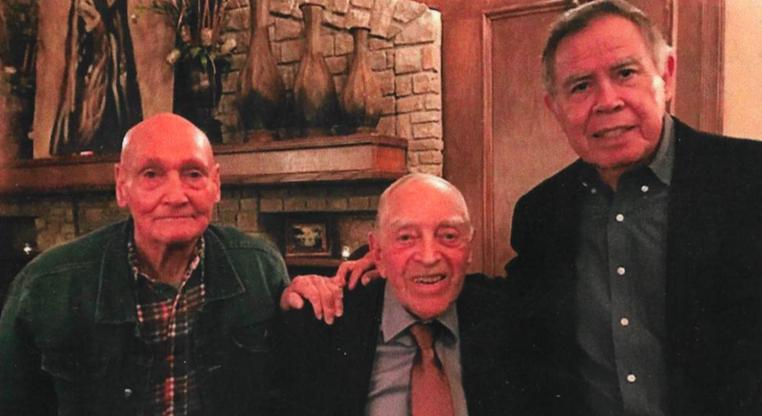 Left to right: CSM Thurman Cousins, COL Lee Roper, LTC Luis Lopez