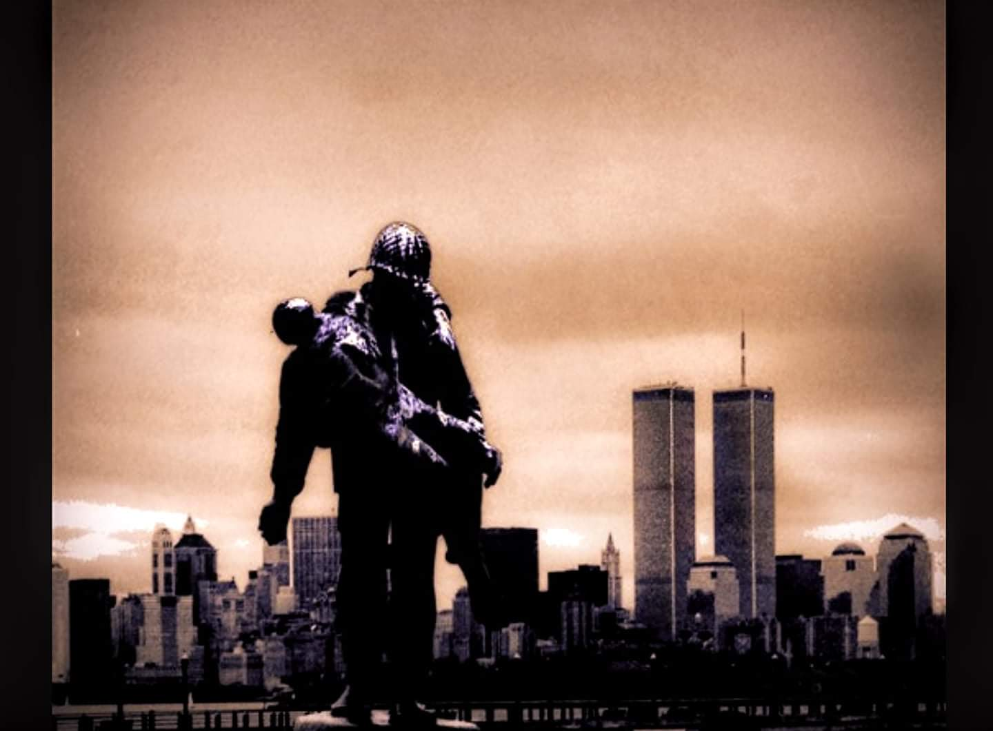 Photo taken by Daniel J. Smith of the World Trade Center from Liberty State Park