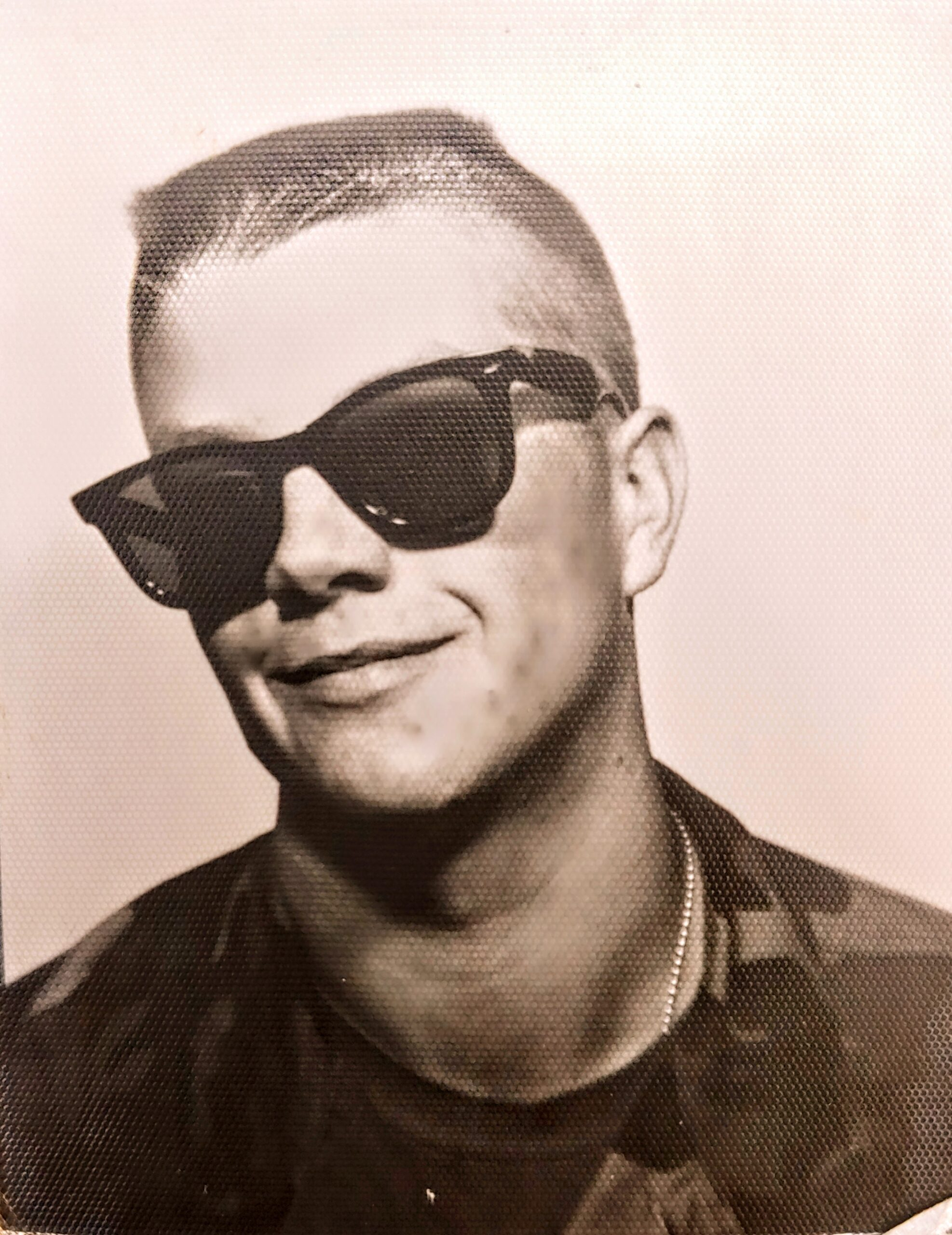 Daniel Smith wearing sunglasses