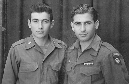 Henry and Leon Lowenstern in uniform