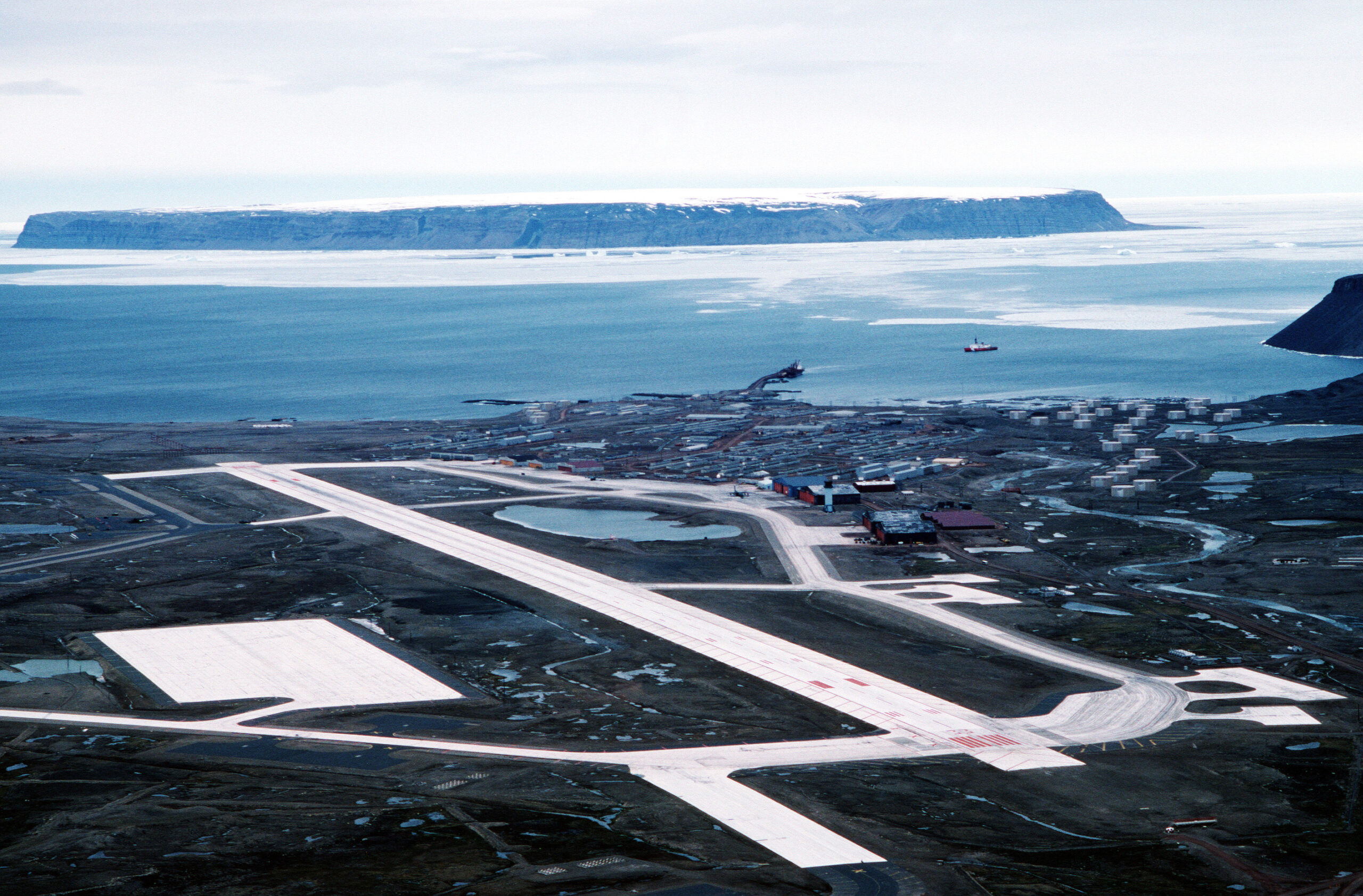 Thule Air Base aerial view in 1989