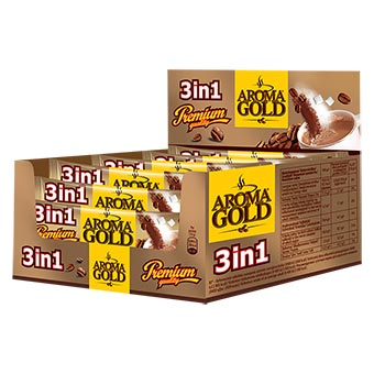 Aroma Gold Coffee Drink 3 in 1 with Display Box 270g