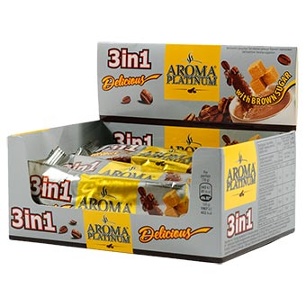 Aroma Platinum Coffee Drink 3 in 1 with Display Box 270g