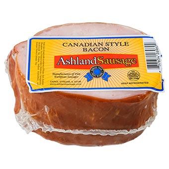 Ashland Sausage Canadian Bacon Vacuum Packed