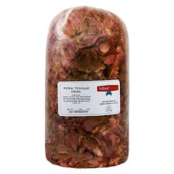 Ashland Sausage Pork Tongue Head Bulk Packed
