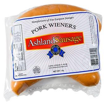 Ashland Sausage Pork Wieners Vacuum Packed