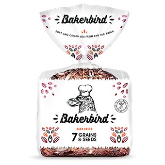Bakerbird 7 Grains Dark Bread 300g