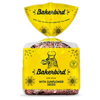 Bakerbird Dark Bread with Sunflower Seeds 300g