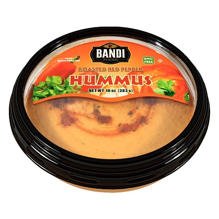 Bandi Roasted Red Pepper Garlic Hummus 10oz